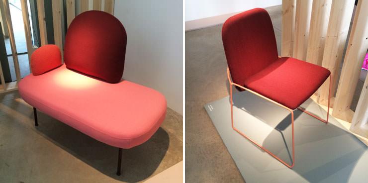 Entre o sofá e a cadeira Archie - Salone del Mobile Milan