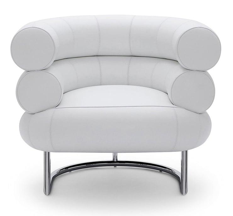 Poltrona bibendum branca Eileen Gray Aram Designs
