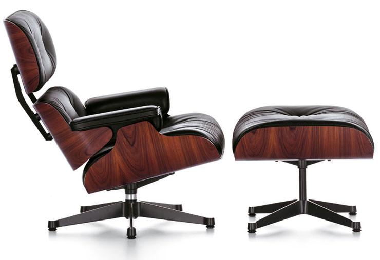 Poltrona e Otomano Charles e Ray Eames Vitra