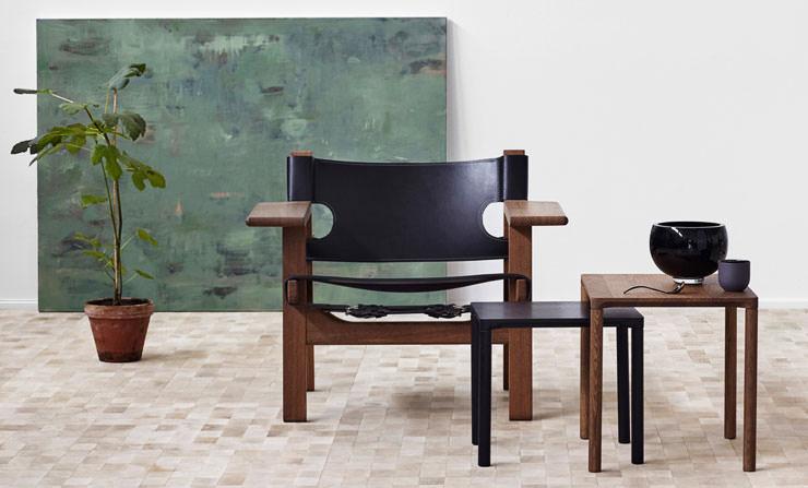 Cadeira Espanhola e Mesas Pilotti - Fredericia