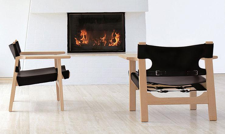 Cadeira espanhola Borge Mogensen Fredericia