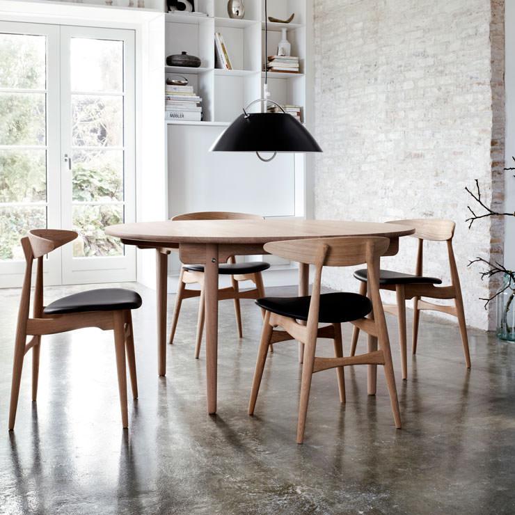 De mesa CH337 e cadeiras CH33 - Hans Wegner - Carl Hansen & Son - Loja Aram