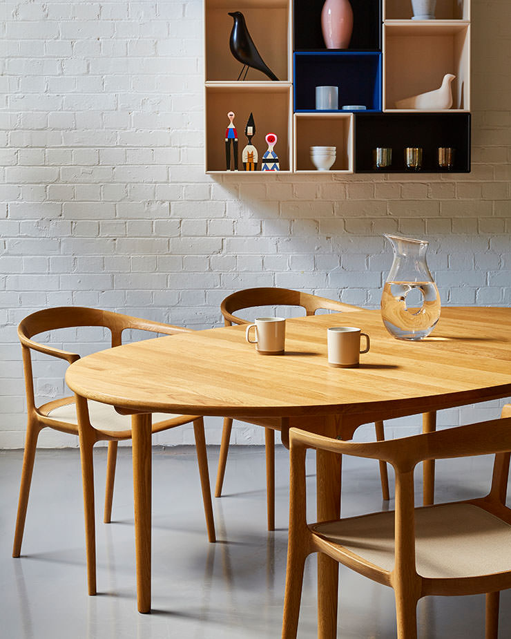 Aram Store mesas de jantar CH338 mesa Carl Hansen Miyazaki Chair Factory DC10 chair