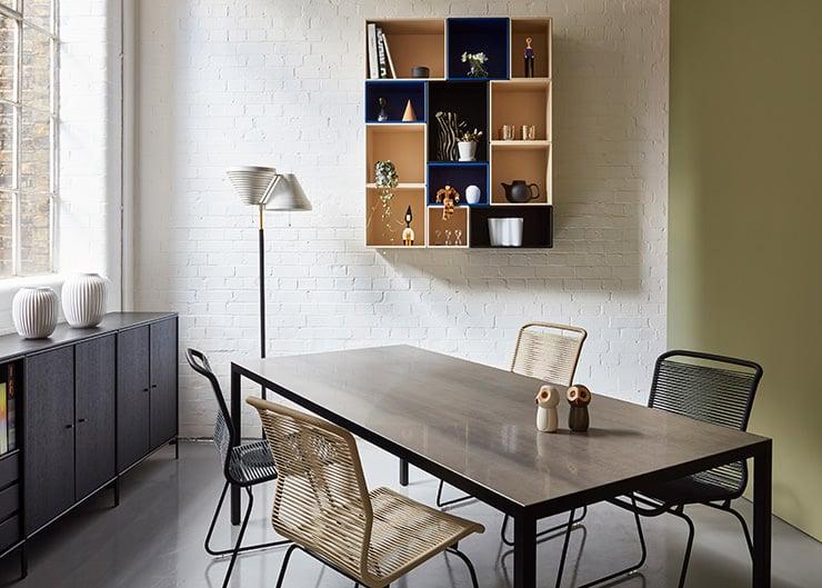 Aram Store mesas de jantar Lim 3.0 mesa MDF Italia Verner Panton cadeira Montana móveis modulares