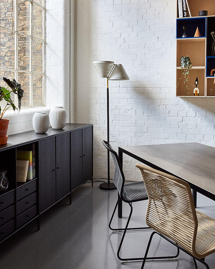 Aram Store mesas de jantar Lim 3.0 table MDF Italia Artek A810 lamp