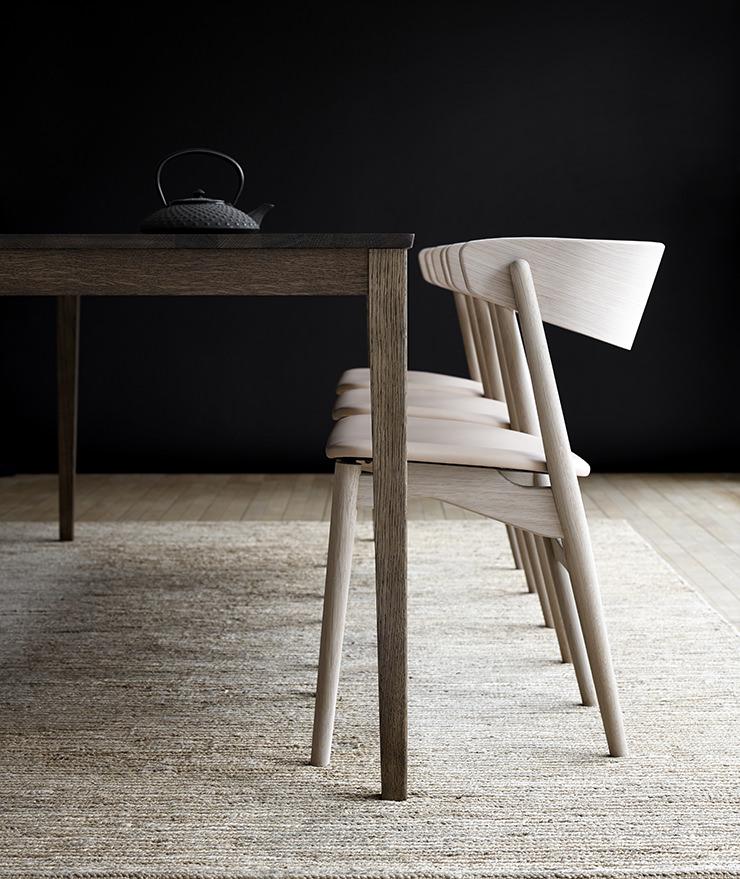 Cadeira de jantar Sibast No 7 e mesa de jantar Sibast No 2_Helge Sibast_Sibast Furniture_Aram Store