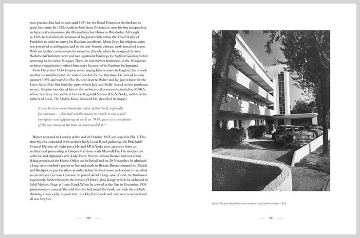 Extrato de livro Isokon e a Bauhaus na Grã-Bretanha Aram Store