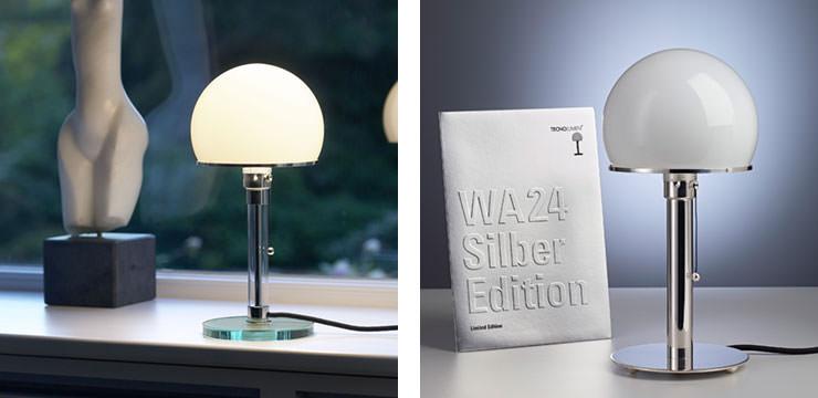 Wagenfeld Lamp e Bauhaus edição limitada Tecnolumen Aram Store