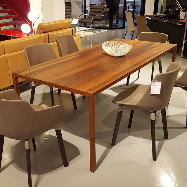 Tense Material Walnut table in the Aram Store winter sale