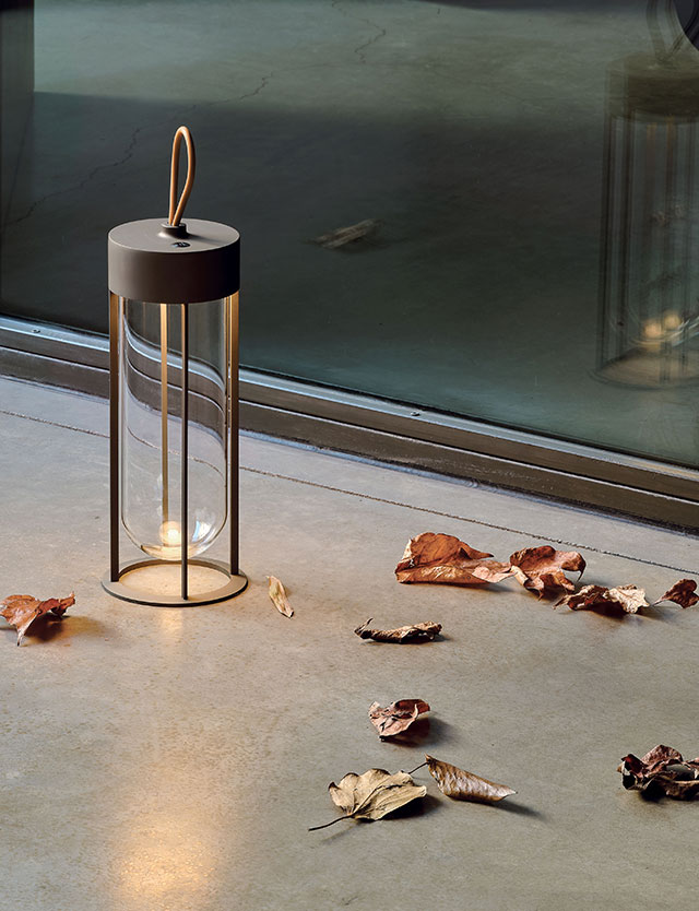 In Vitro Unplugged portable lamp by Philippe Starck