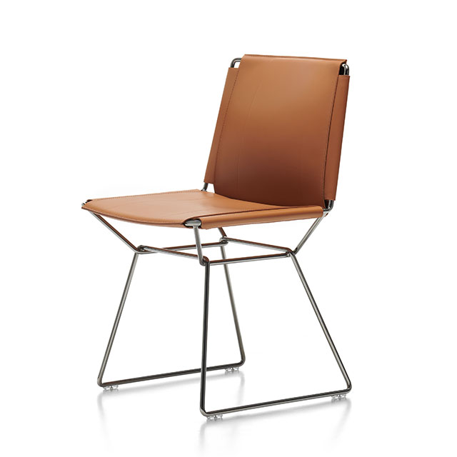 Neil Leather Chair by Jean-Marie Massaud
