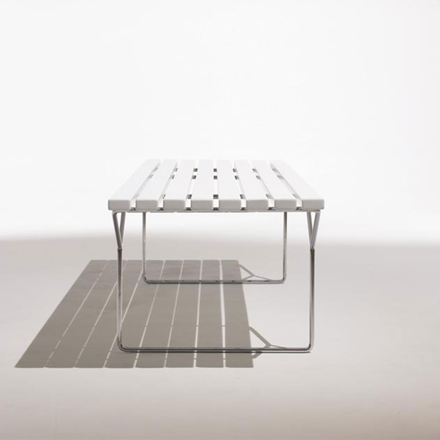 Bertoia Outdoor Slatted Bench
