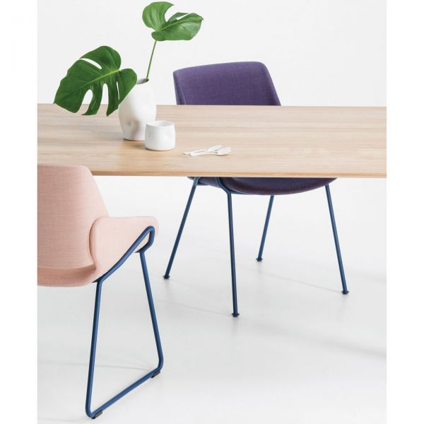 Marvelous Monk Side Chair Sled Base Interior Design Ideas Ghosoteloinfo