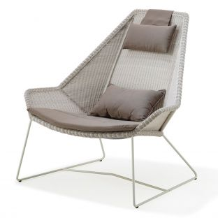 Breeze High Back Lounge Chair by Cane-Line - ARAM Store