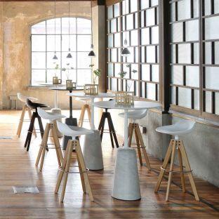 Flow Barstool VN Wood Base by Jean Marie Massaud for MDF Italia - Aram Store