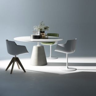 Rock Dining Table 140cm by Jean Marie Massaud for MDF Italia - ARAM Store