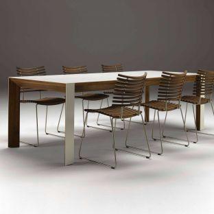 Corian Walnut Extending Table Naver Collection ARAM Store