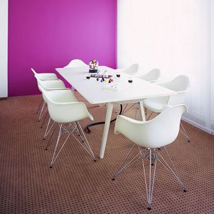 DAR Eames Plastic Armchair by Charles & Ray Eames for Vitra - Aram Store