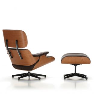 Eames Lounge Ottoman Cherry by Charles and Ray Eames for Vitra - Aram Store