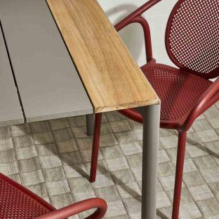 Maki Outdoor Extending Slatted Dining Table - Kristalia - ARAM Store
