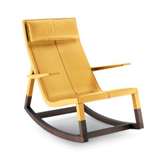 Don'do Rocking Chair by Jean Marie Massaud from Poltrona Frau - Aram Store
