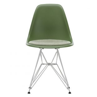 DSR Eames Plastic Side Chair with Seat Pad by Vitra - ARAM Store