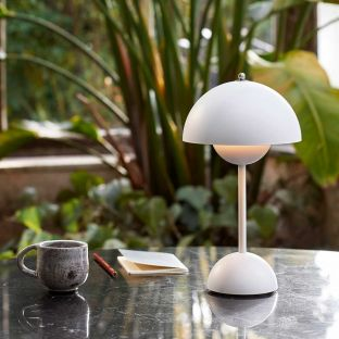 Flowerpot Portable Table Lamp by Verner Panton for &Tradition - ARAM Store