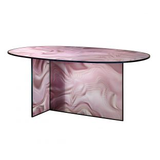 Liquefy Oval Dining Table by Patricia Urquiola for Glas Italia