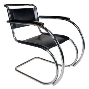 Vintage MR Chair - Black Leather