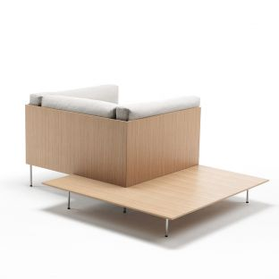 Rod Armchair with Table by Piero Lissoni for Living Divani - ARAM Store