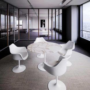 Saarinen Round Table - Arabescato Marble