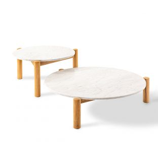 Table à Plateau Interchangeable 75cm by Charlotte Perriand for Cassina - ARAM Store
