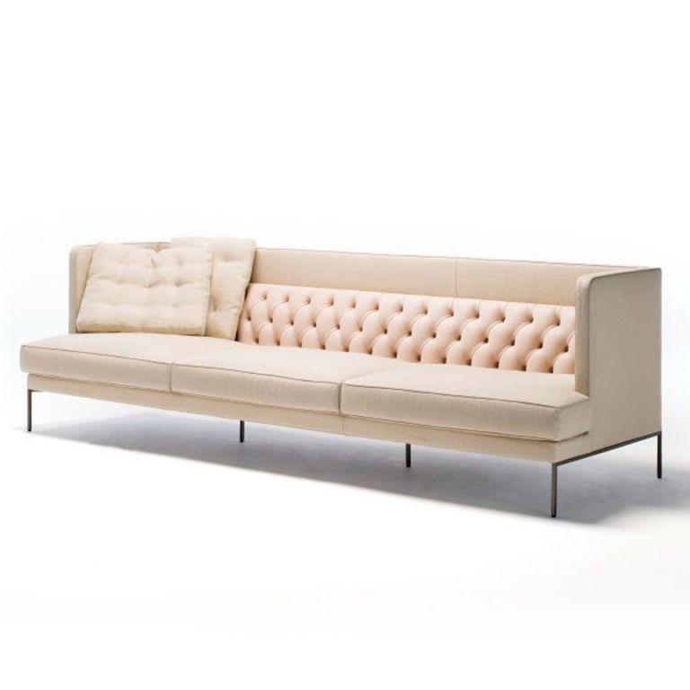 Lipp Sofa 235cm Mixed Fab/Leath