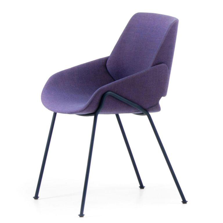 Monk Side Chair Metal Legs