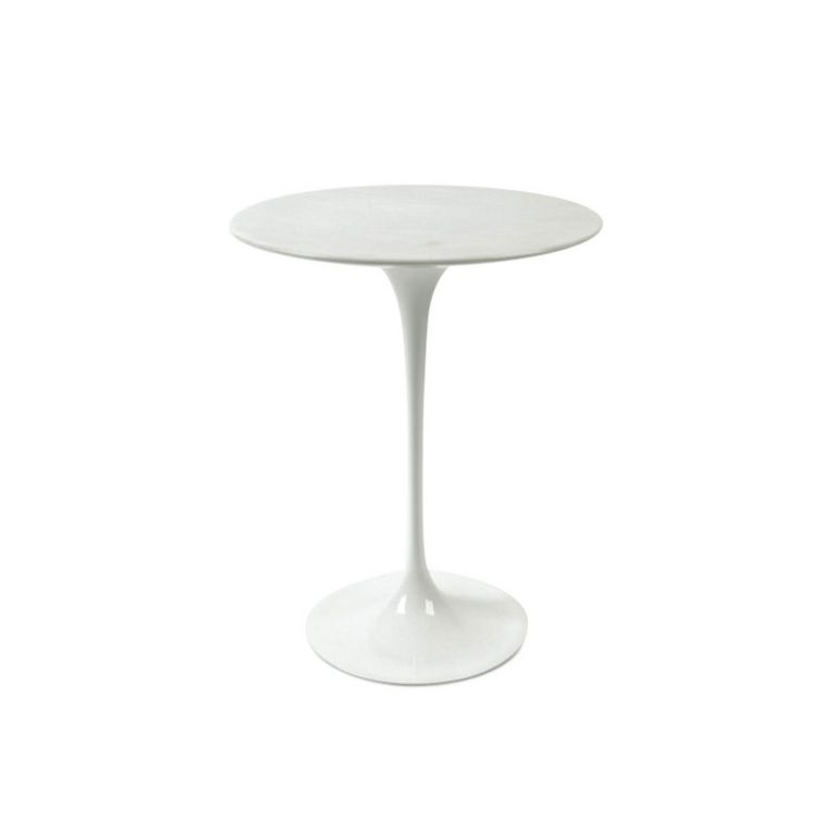 Saarinen Side Table - Wood Veneer Black Base