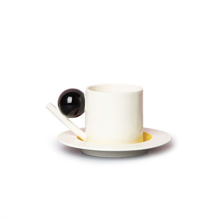 Geometric Cup and Saucer