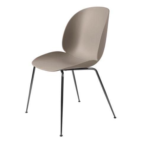 Beetle Plastic Chair Metal Base