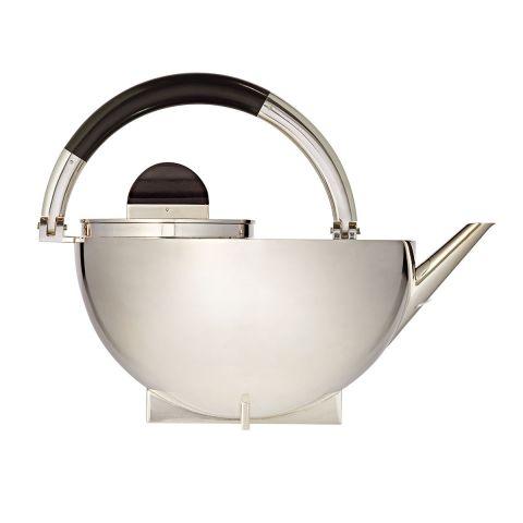 Silver Bauhaus Teapot