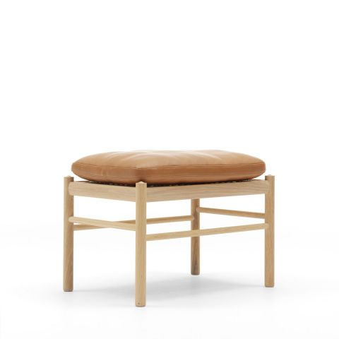 OW149F Colonial Footstool by Ole Wanscher for Carl Hansen and Son - Aram Store