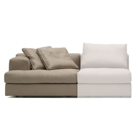 Miloe end unit Sofa from by Piero Lissoni for Cassina - Aram Store