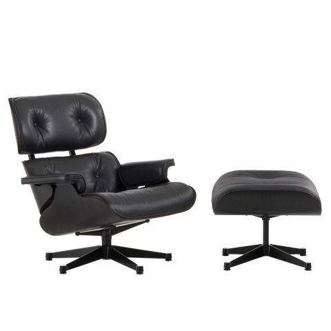 Black Eames Lounge Chair and Ottoman by Charles and Ray Eames from Vitra - Aram Store