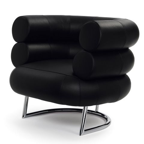Eileen Gray Bibendum Chair - Chrome Base by Eileen Gray for Aram Designs - Aram Store