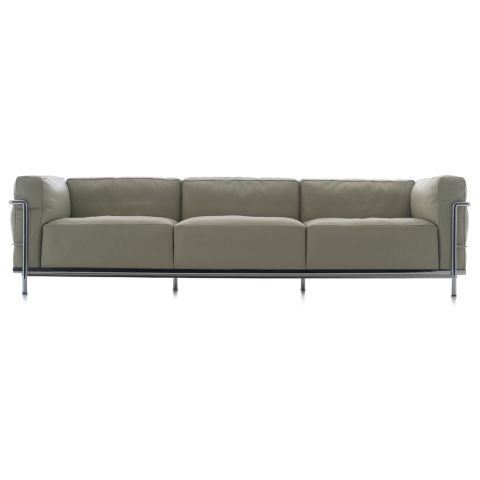 LC3 3 Seat Sofa by Le Corbusier, Jeanneret, Perriand for Cassina - Aram Store
