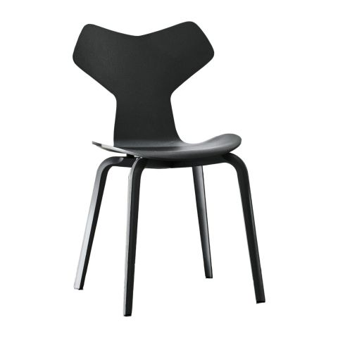 Grand Prix Chair - Wooden Legs by Arne Jacobsen for Fritz Hansen - Aram Store
