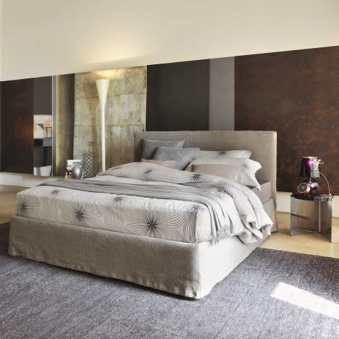 Notturno Shabby Chic Bed 180cm by Flou - ARAM Store