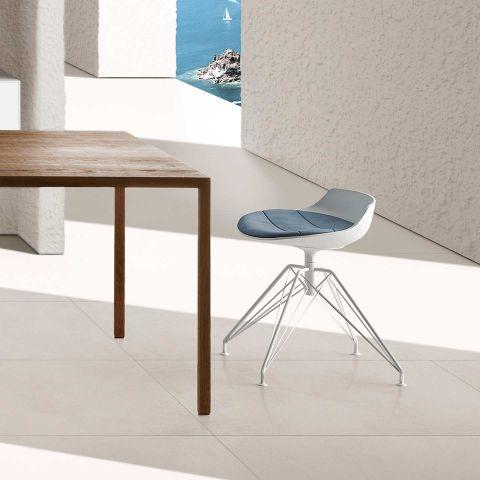 Flow Stool LEM Base by Jean Marie Massaud for MDF Italia - Aram Store