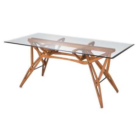 Reale Table 180cm - glass top oak frame