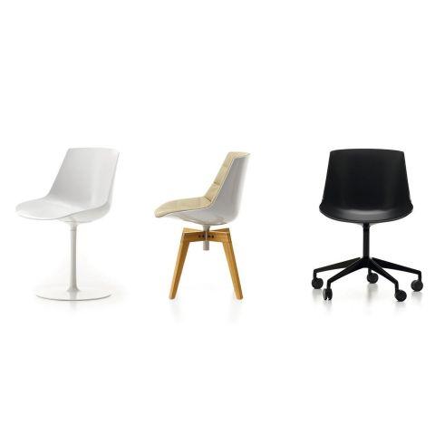 Flow Chair Oak Base by Jean Marie Massaud for MDF Italia - Aram Store