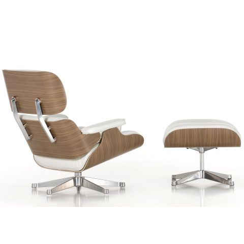 Eames Lounge Ottoman White by Charles & Ray Eames for Vitra - Aram Store