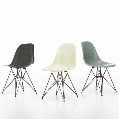 DSR Eames Fibreglass Chair by Charles & Ray Eames for Vitra - Aram Store